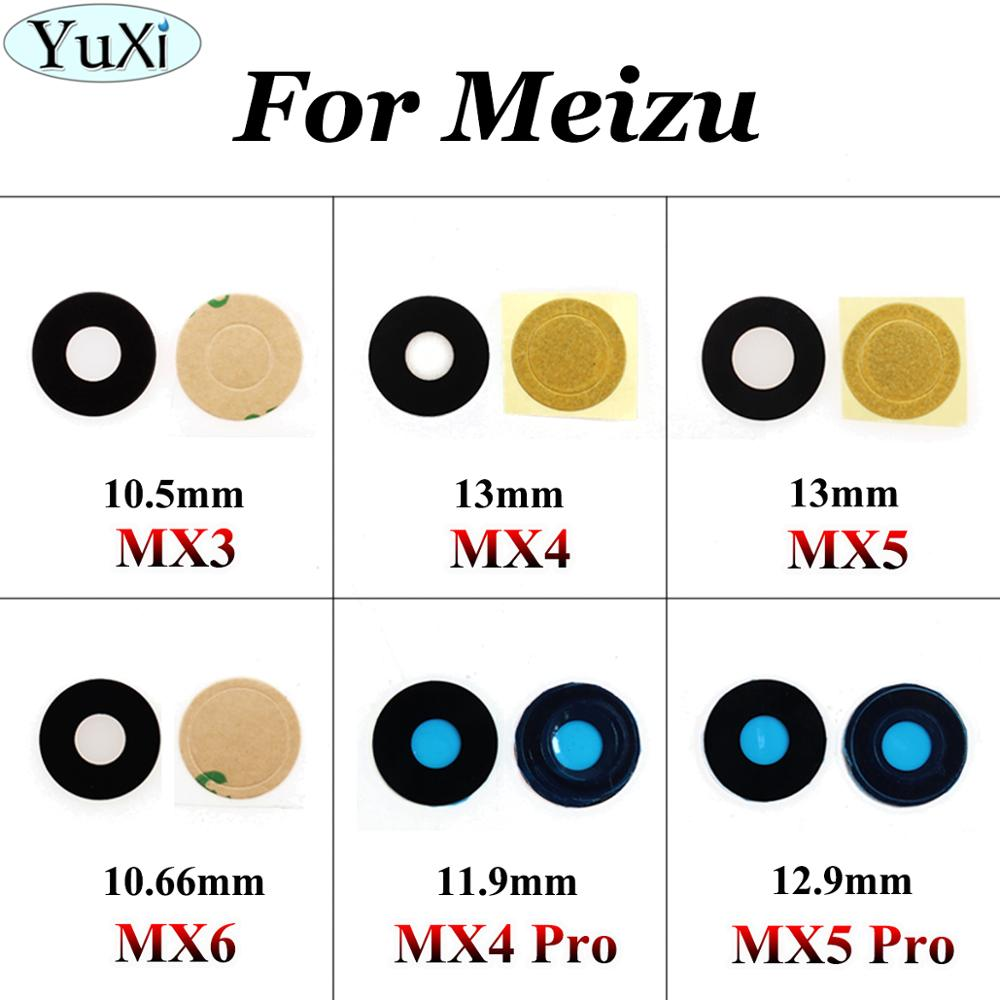 YuXi 2pcs/lot Back Camera Glass For MEIZU MX4 MX5 Pro For Meizu MX3 MX4 MX5 MX6 Rear Camera Lens Housing Parts Replacement