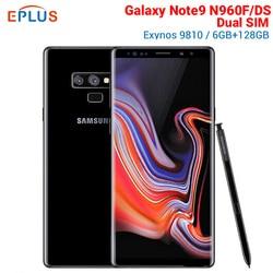 Перейти на Алиэкспресс и купить global version samsung galaxy note9 note 9 n960fd n960f/ds dual sim mobile phone exynos 9810 6.4дюйм. 6gb 128gb nfc 4g smartphone
