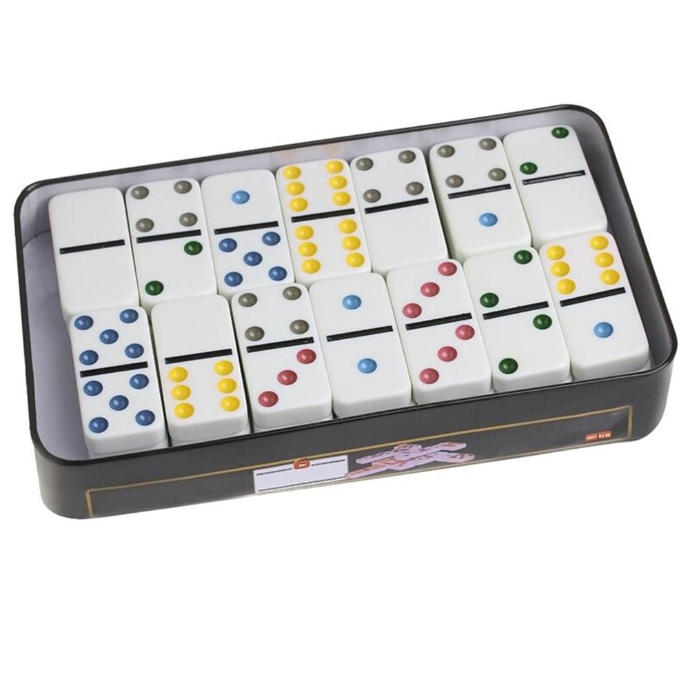 Домашние настольные игры с подарочной железной коробкой, вечерние и развлекательные настольные гладкие забавные домино, набор клубных дво...