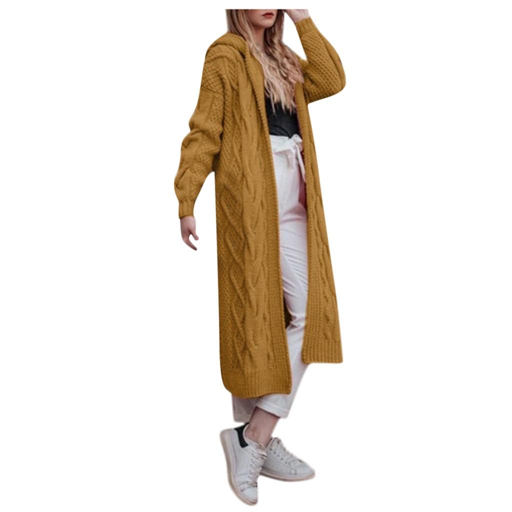 Femmes Long Cardigan chandail haut à manches longues rayure lâche tricot Cardigan chandail femmes tricoté femme Cardigan pull femme