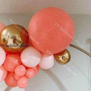 Image 3 - Pastel Balo Vòng Hoa Rainbow Macaron San Hô Đỏ Đào DIY Bộ Trẻ Em Sinh Nhật Bong Bóng Nhà Tiệc Cưới Trang Trí Bóng Bay