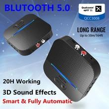 Receptor de Audio para coche con Bluetooth, dispositivo receptor de sonido aptX LL con efectos 3D, Chip QCC3008, llamada con manos libres, transmisor de Audio para coche, conector Aux de 5,0mm, adaptador inalámbrico