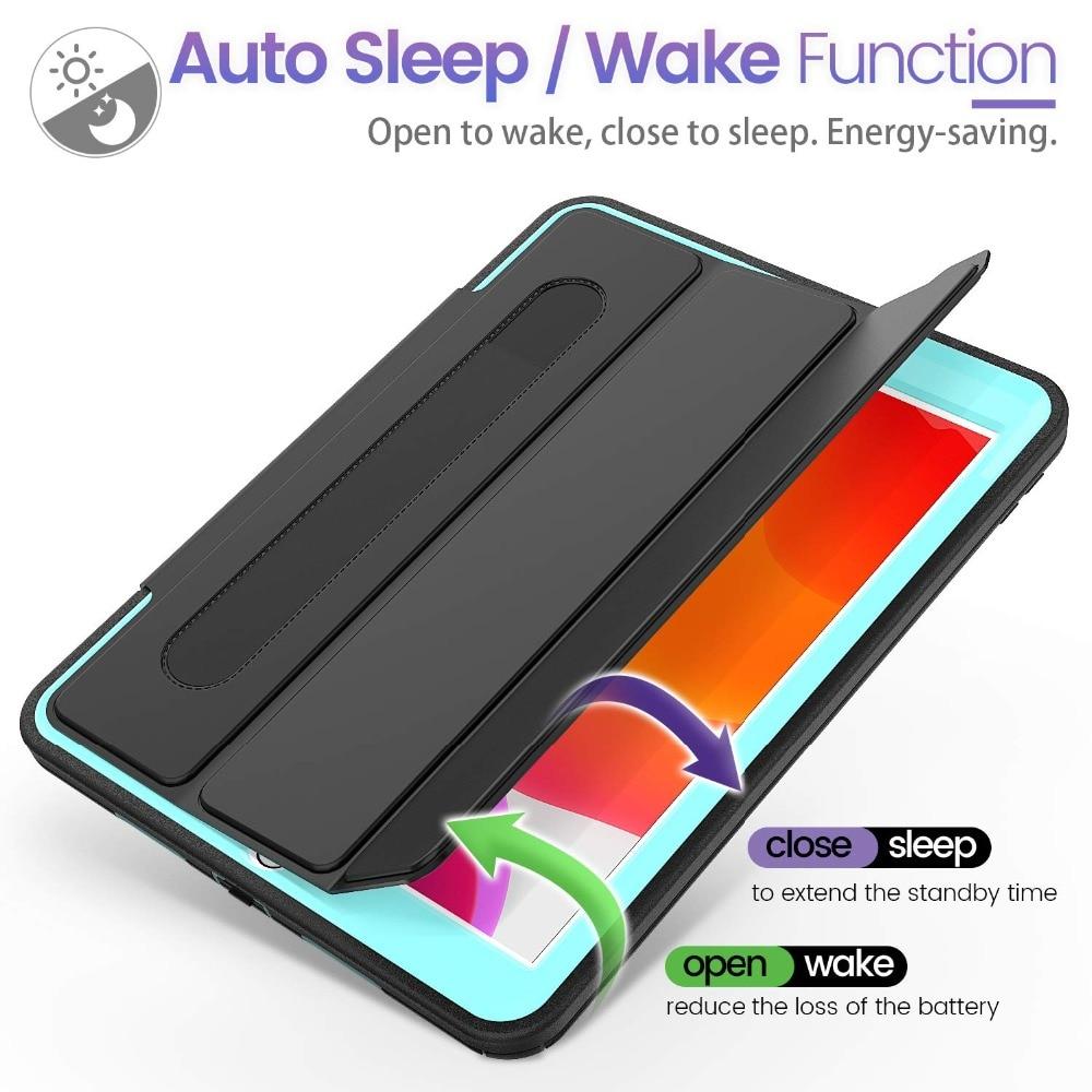 Duty Generation with Protective For Case Flip Rugged 7th Auto Wake/Sleep Heavy iPad Case