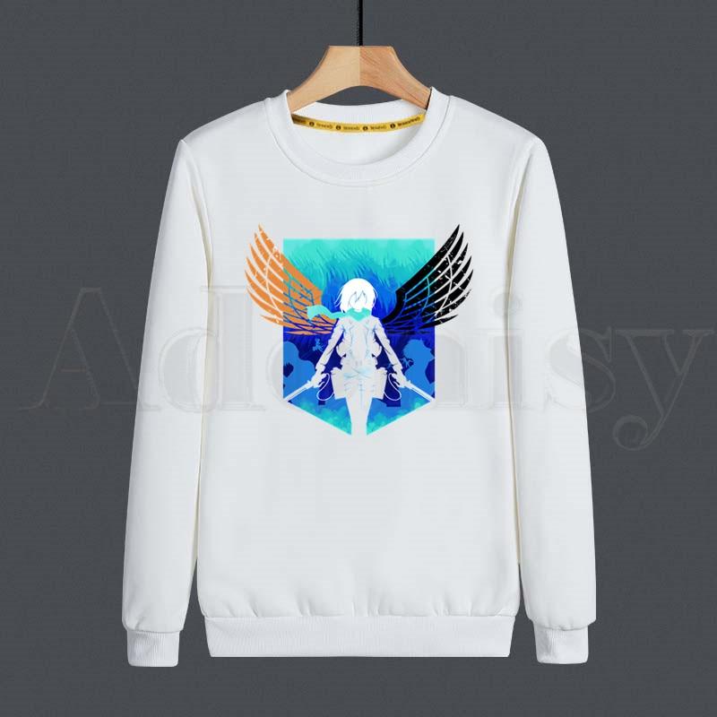 Japanese Anime Shingeki No Kyojin Attack On Titan Men Hoodies Sweatshirt Print Trend Clothes Hip-Hop Male Crewneck Hoodies Men