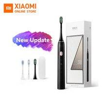Xiaomi soocas x3u sonic escova de dentes elétrica, atualizada, para adultos, à prova d água, ultrassônica, automática, recarregável por usb