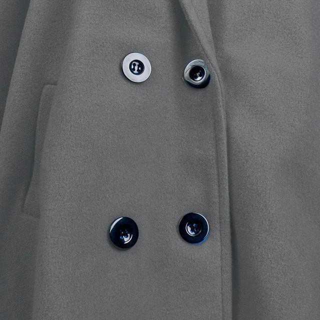Winter Coat Women Wool Long Coat Elegant Blend Coats Slim Female Long Coat Outerwear Jackets Casual Pockets Button Jacket #YL10