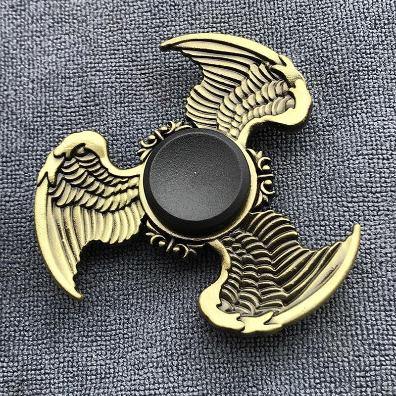 Gyro Toy Dice Fidget Spinner Finger Bauhinia Zinc-Alloy Metal Brass-Color Rudder Tri img2