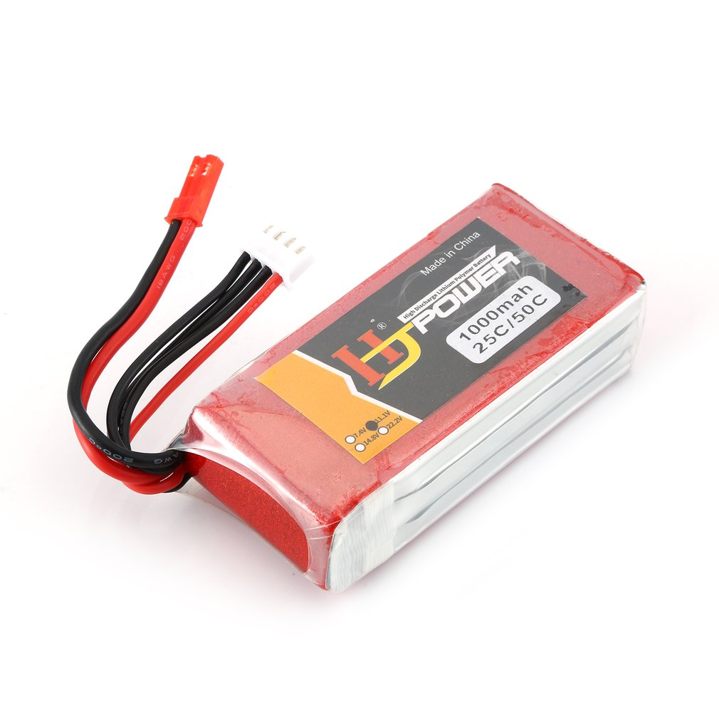 HJ 11.1V 1000MAH 25C <font><b>3S</b></font> Lipo <font><b>Battery</b></font> JST Plug Rechargeable for RC Racing Drone Helicopter Car Boat Model image