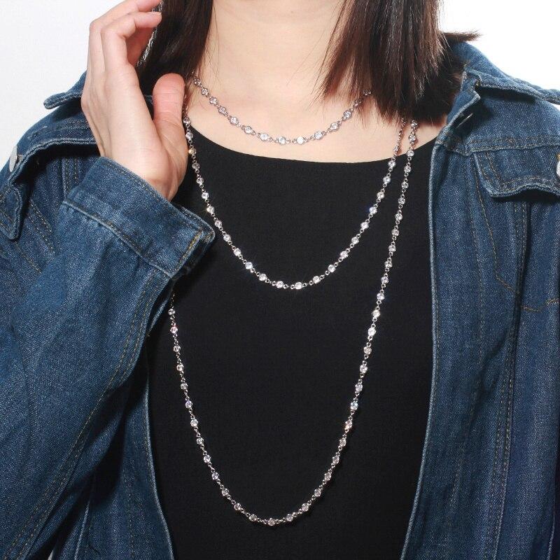 CWWZircons رائع جولة المختنقون مكعب زركونيا كريستال طويلة البلوز سلسلة قلادة للنساء مجوهرات الأزياء الاكسسوارات CP048      - AliExpress