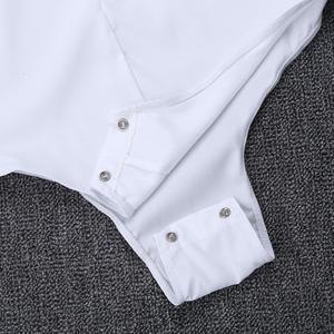 Image 5 - Mens Zipper Latin Dance Dress Shirt with Bowtie One piece Romper Shirts Ballroom Dance Wear for Men Long Sleeves Bodysuit Shirts