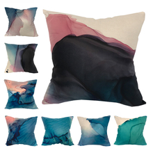 CURCYA Ink Painting Shading Wave Texture Cushion Covers Polyester Sofa Bed Throw Pillow Cover Decorative Case Home Decor