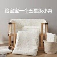 9 pcs sets baby bedding set skin friendly soft newborn bedding wholesale cotton cartoon baby bed sheet boy and gril