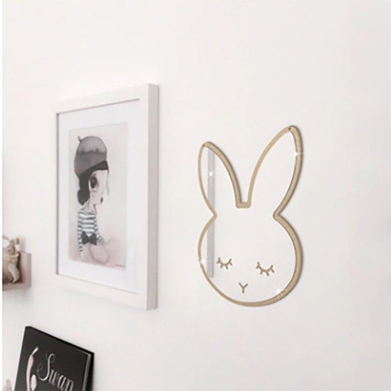 Креативные настенные наклейки ins детское зеркало для комнаты наклейки скандинавские акриловые зеркальные наклейки декоративные наклейки ...