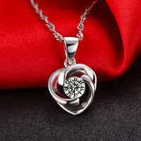 Solid 18K Gold Natural 0.25ct Diamond Pendant Necklace for Women - Free DHL Shipping