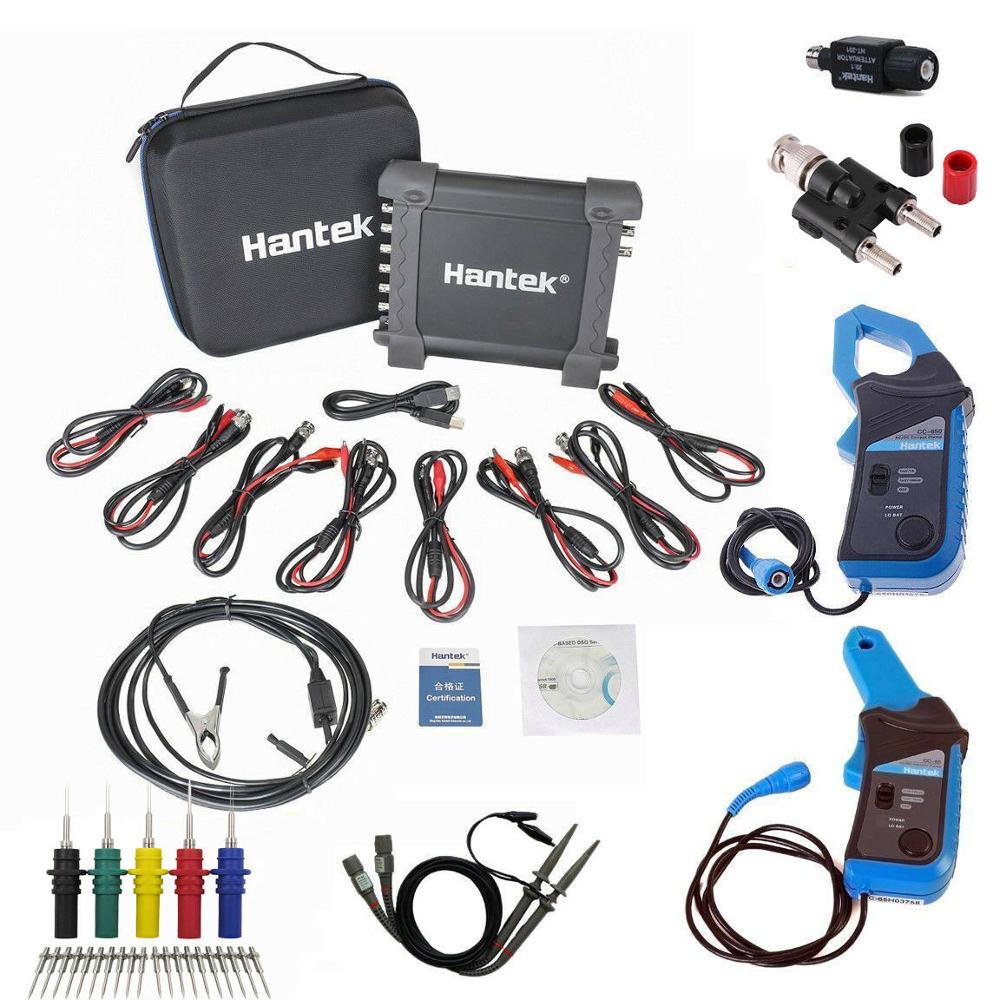 Hantek1008c usb escopo automático/daq/8ch carro virtual gerador de diagnóstico veículo teste atual braçadeira osciloscópio