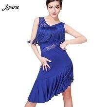 Yeni Latin dans elbise kadın püskül Salsa Samba Tango Latin dans elbise Latin yarışması elbiseler Tango dans eteği giyim