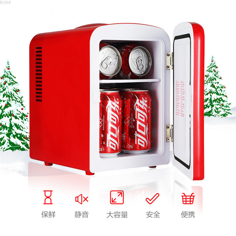 12V DC Or 220V AC 4L Home Car Dual-use Mini Refrigerator Portable Small Cold Storage Refrigerator Electric Saving Cooler Box