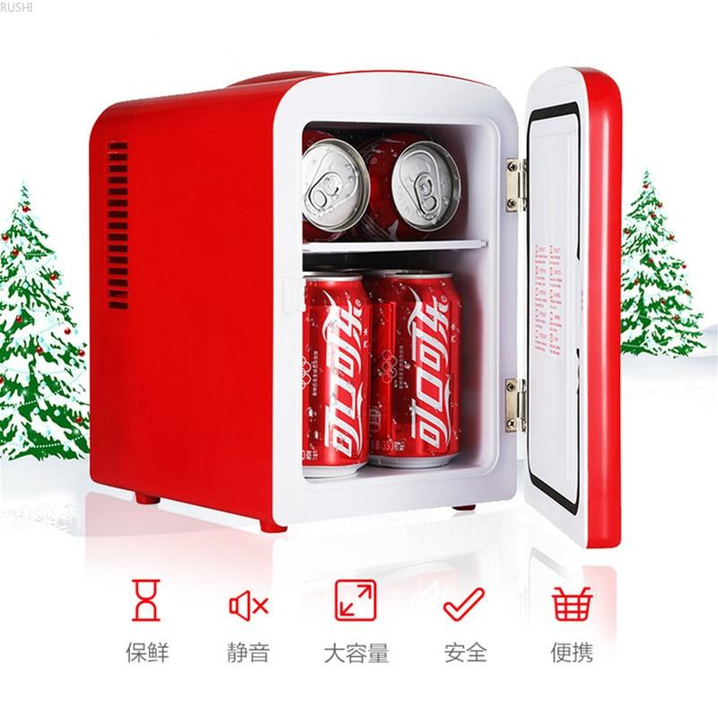 12V DC Or 220V AC 4L Home Car Dual-use Mini Refrigerator Portable Small Cold Storage Refrigerator Electric Saving Cooler Box