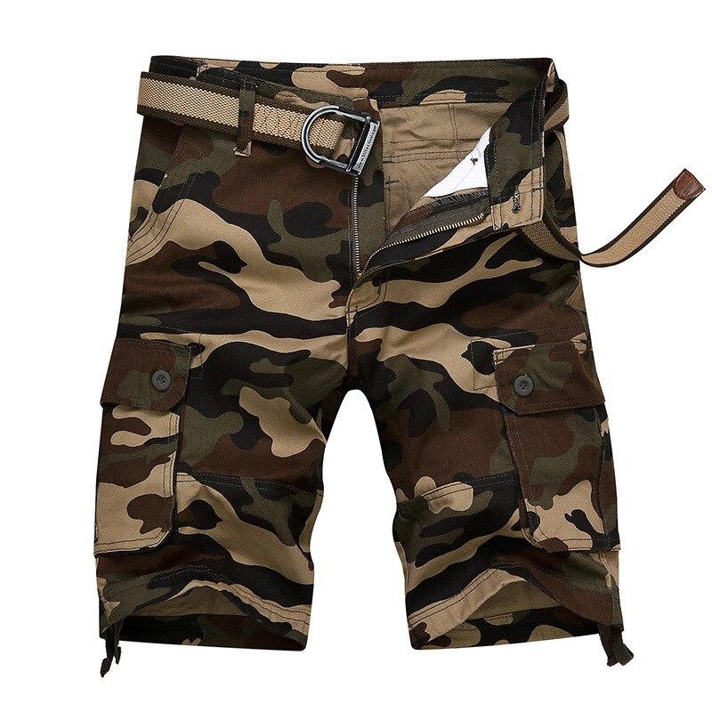 Summer Camouflage Pants MEN'S Shorts Casual Pants Shorts Workwear Beach Shorts Short Breeches Multi-pockets Fashion 5 Points