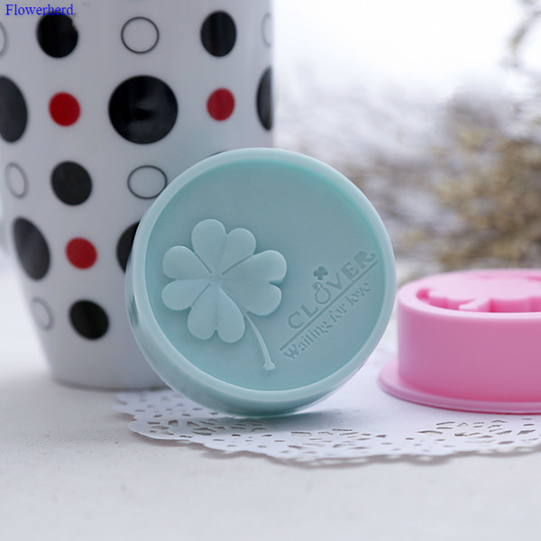 Recommend New DIY Handmade Soap Mold Round Four-leaf Clover Cold Soap Silicone Mold Fondant Cake Mold Plaster Chocolate Mold