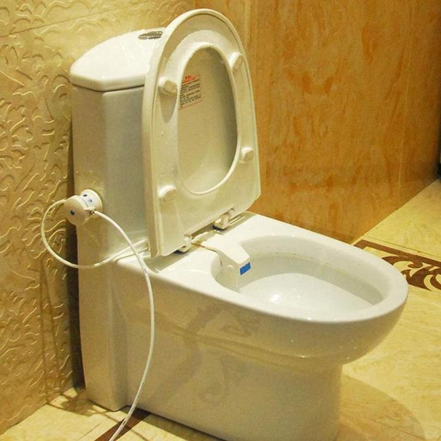 Automatic toilet bidet faucet flus