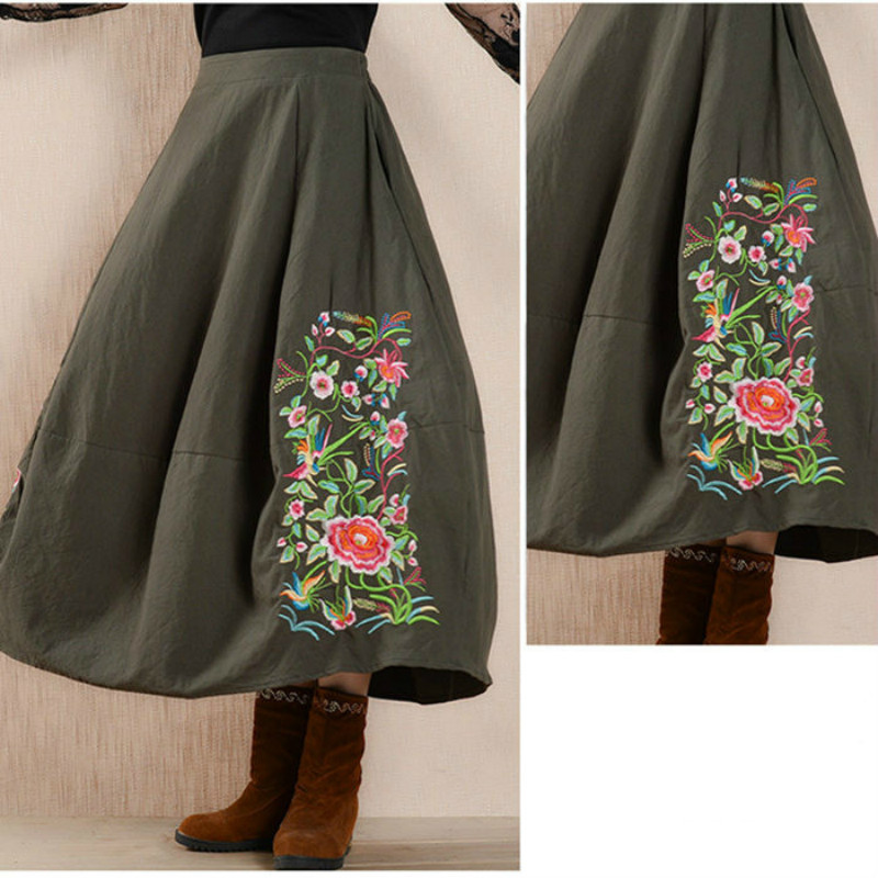 Cotton Pleated Embroidery Floral