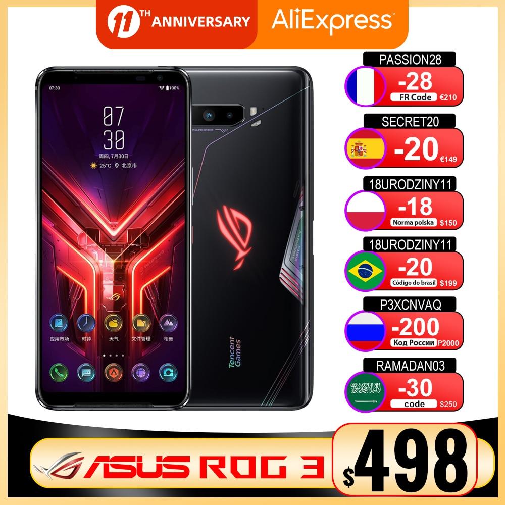 "New Asus ROG 3 5G Gaming Phone 6.59 ""12/16GB RAM 128/256G/512GB ROM Snapdragon 865/865 Plus 6000mAh 144HZ FHD+ AMOLED ROG3 Phone|Cellphones| - AliExpress"