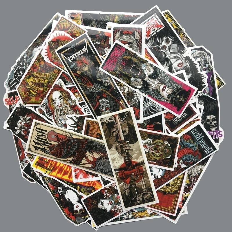 50pcs Retro Gothic Style Decoration Stationery Sticker Diy Diary Scrapbooking Label Sticker Stationery 2020