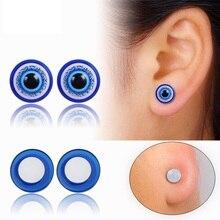 Creative Design Vintage Eye Shape Stud Earrings For Women Fashion Personality Rhinestone Oorbellen Femme Trendy Ear Jewelry