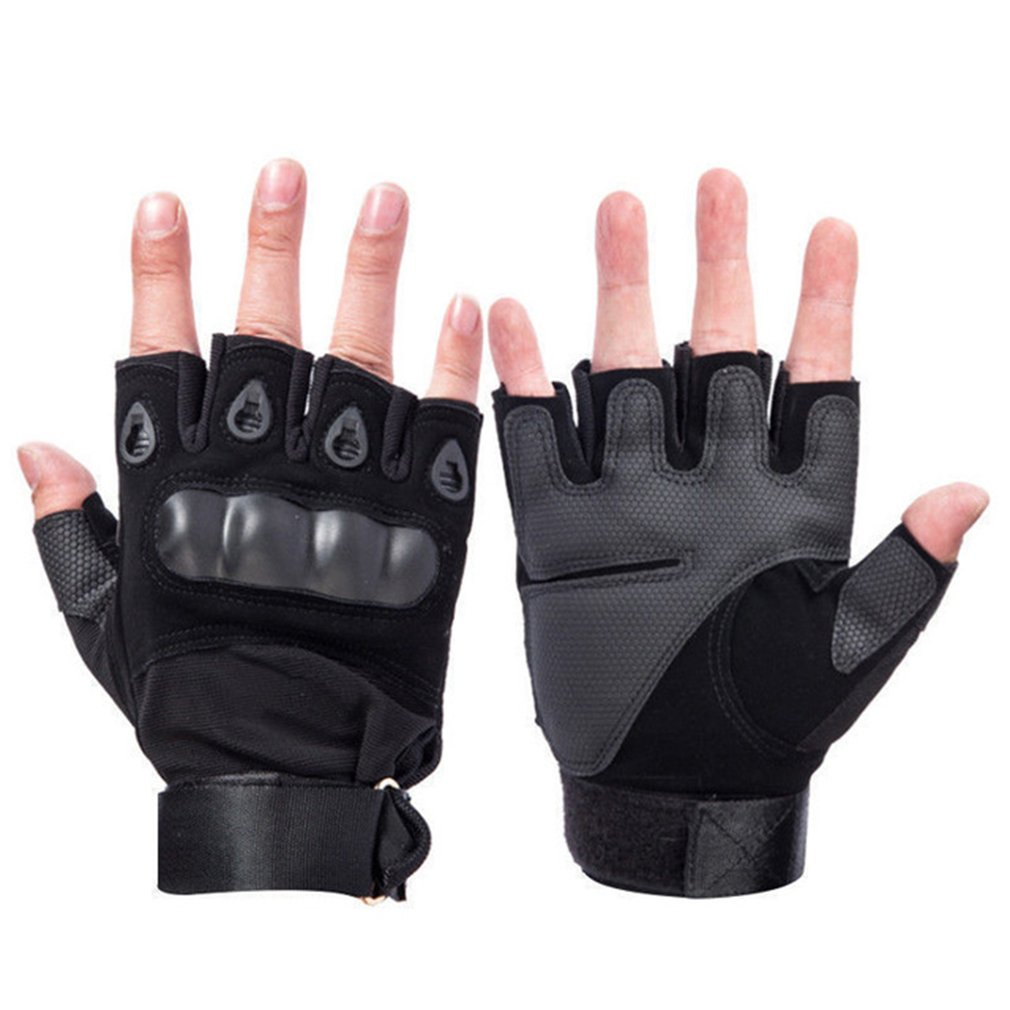 Tactical Hard Knuckle Half Finger Gloves Men's Army Military Combat Hunting Shooting Airsoft Paintball Gloves