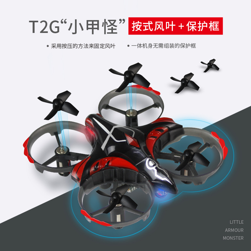 Taaiwt2 G 2.4G Remote Control Small Four-axis Infrared Interactive Sensing One-Button Take-off Light Induction Vehicle