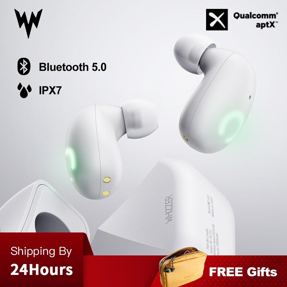 Whizzer B6 IPX7 TWS Atualizado À Prova D' Água Fones De Ouvido Fones de Ouvido Sem Fio Bluetooth 5.0 Suporte Aptx 45h Tempo de Jogo Para iOS/ android