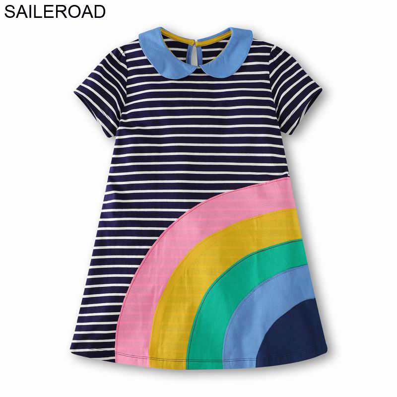 Saileroad 2 12year Teenager Dress For School Dresses Juvenile Party Dresses Summer Big Girls Pricess Dress Rainbow Kids Vestidos Dresses Aliexpress