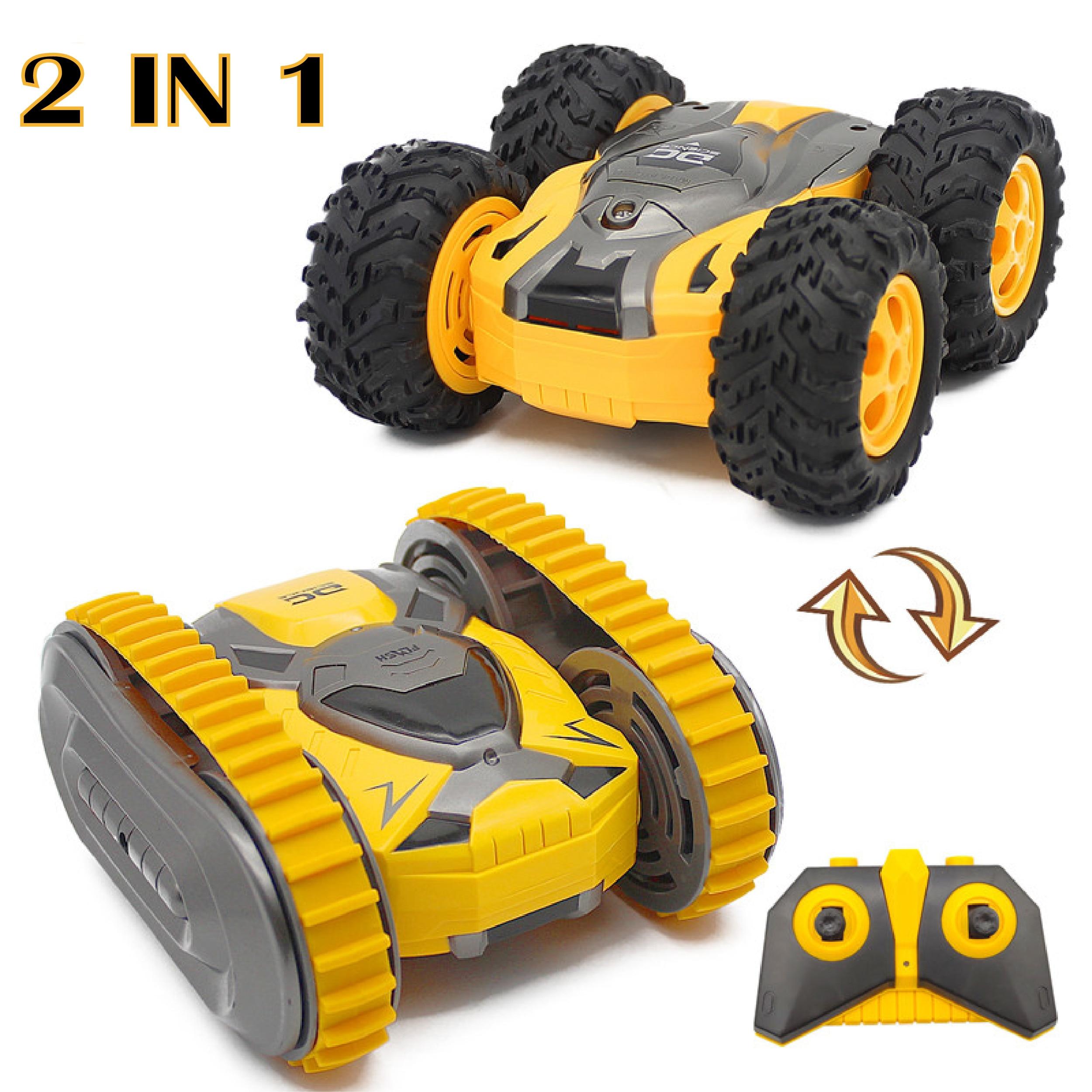 RC coche Mini truco de dos lados Drift Buggy coche 2,4G Crawler Roll Radio Control remoto coche 360 rotación voltear vehículo niño juguete para regalo Envío Gratis, Red, 10mW, minilocalizador de mano, probador de cables de fibra óptica VFL, comprobador de rotura de fibra óptica, 12Km