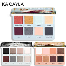 8 colori Palette di ombretti opachi trucco ombretto pigmento lucido impermeabile diamante metallico pigmento trucco cosmetico TSLM2