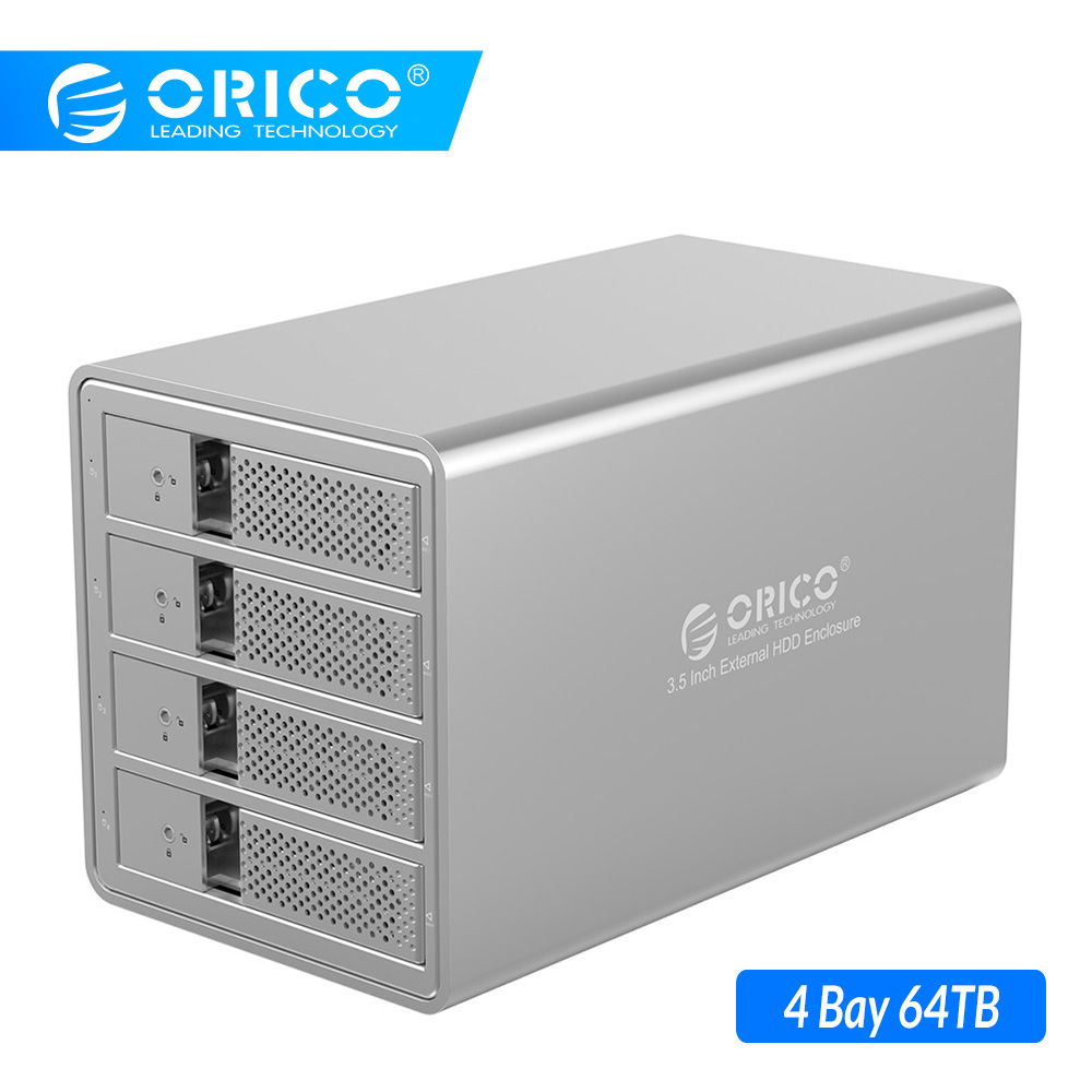 ORICO 4 Bay 3.5'' USB3.0 HDD Docking Station With 150W Internal Power Adaper Support 64TB UASP Aluminum SATA To USB 3.0 HDD Case