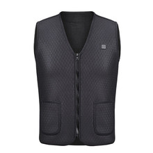 Heating Vest Jacket Men And Women Outdoor USB Infrared Winter Flexible Electric Thermal Clothing Waistcoat Fishing Hiking M-3XL cheap TANTU Fits true to size take your normal size runpubx warmthtm COTTON black gray pink blue M L XL XXL XXXL Unisex