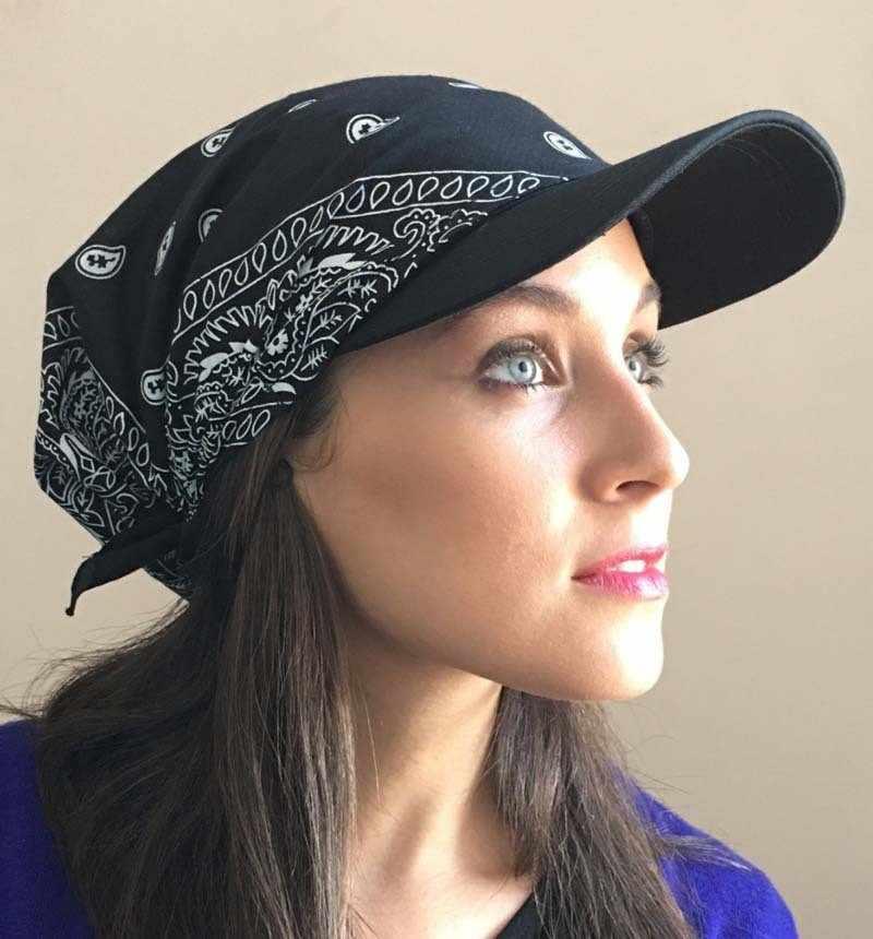2019 Baru Wanita Pria Unisex Fashion Aksesoris Wanita India Muslim Retro Bunga Kapas Handuk Cap Brim Sorban Topi Bisbol Bungkus
