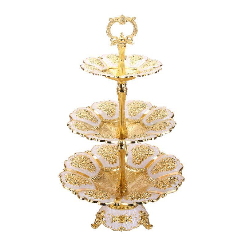 Support à gâteau luxe chargeur plaque métal mariage sucré fruits écrou plateau plaques pour licorne fête maison Table décoration