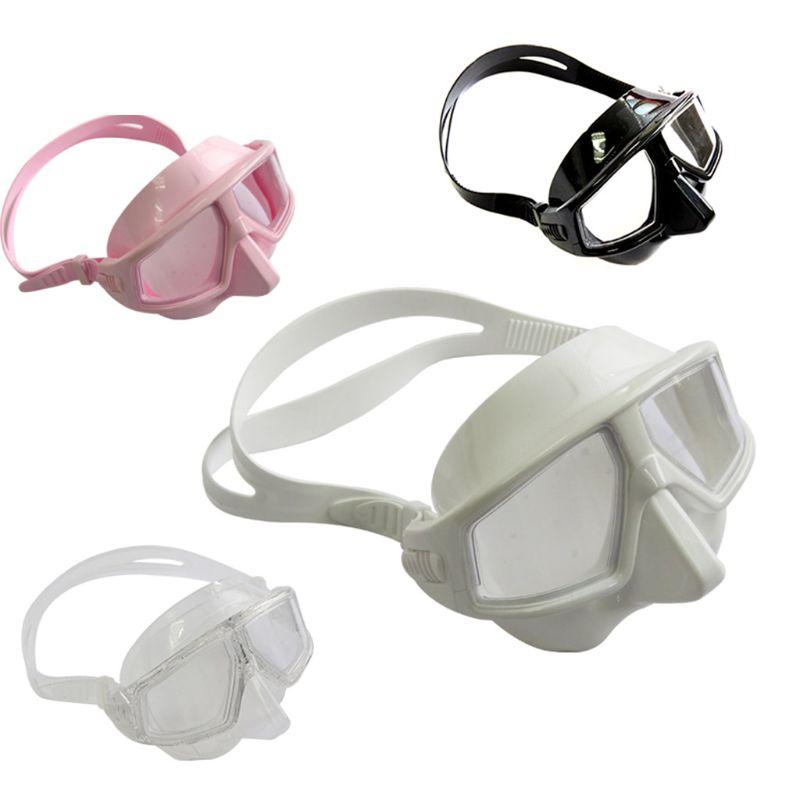 Adjustable Free Diving Goggles Anti-fog Waterproof Snorkeling Scuba Dive Mask Glasses Eyewear