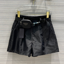 Short-Pants High-Quality Summer Fashion Nylon Solid for Lady Detachable Black
