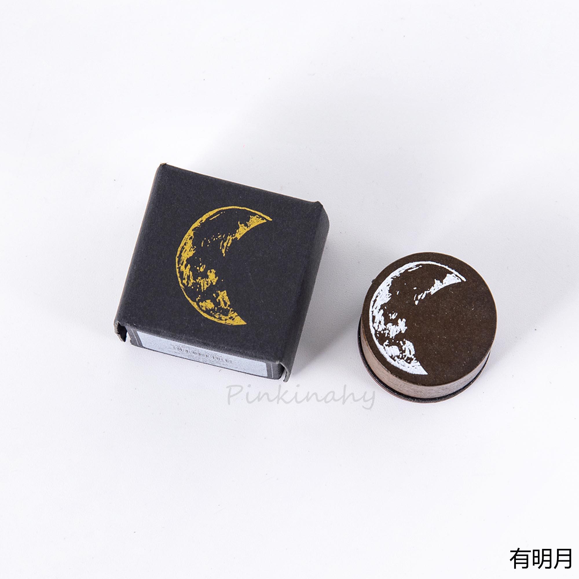 Винтажные фазы Луны планеты круглое уплотнение DIY Деревянные и резиновые штампы для скрапбукинга канцелярские товары Скрапбукинг Стандартный штамп - Цвет: 7