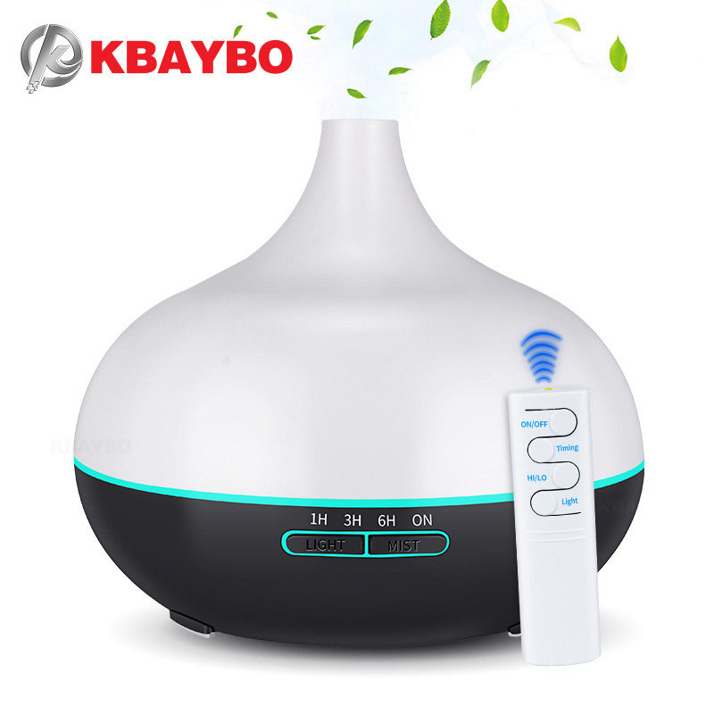 KBAYBO 550ml USB Aroma Diffuser Air Humidifier USB Cool Mist Maker Air Purifier With 7 Color Changing LED Lights For Office Home
