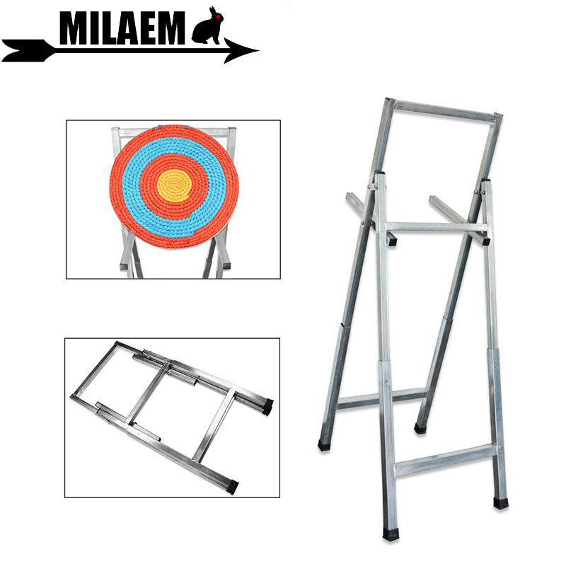 Archery Foldable Target Stands Stainless Steel Stand Bracket Frame Shooting Training Workout Accessories