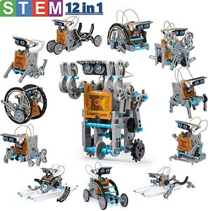12 in 1 Toys Educational Science Kits Toys Solar Technology Robot Learning Scientific Toy for Children Suit for 6-12 Years Old