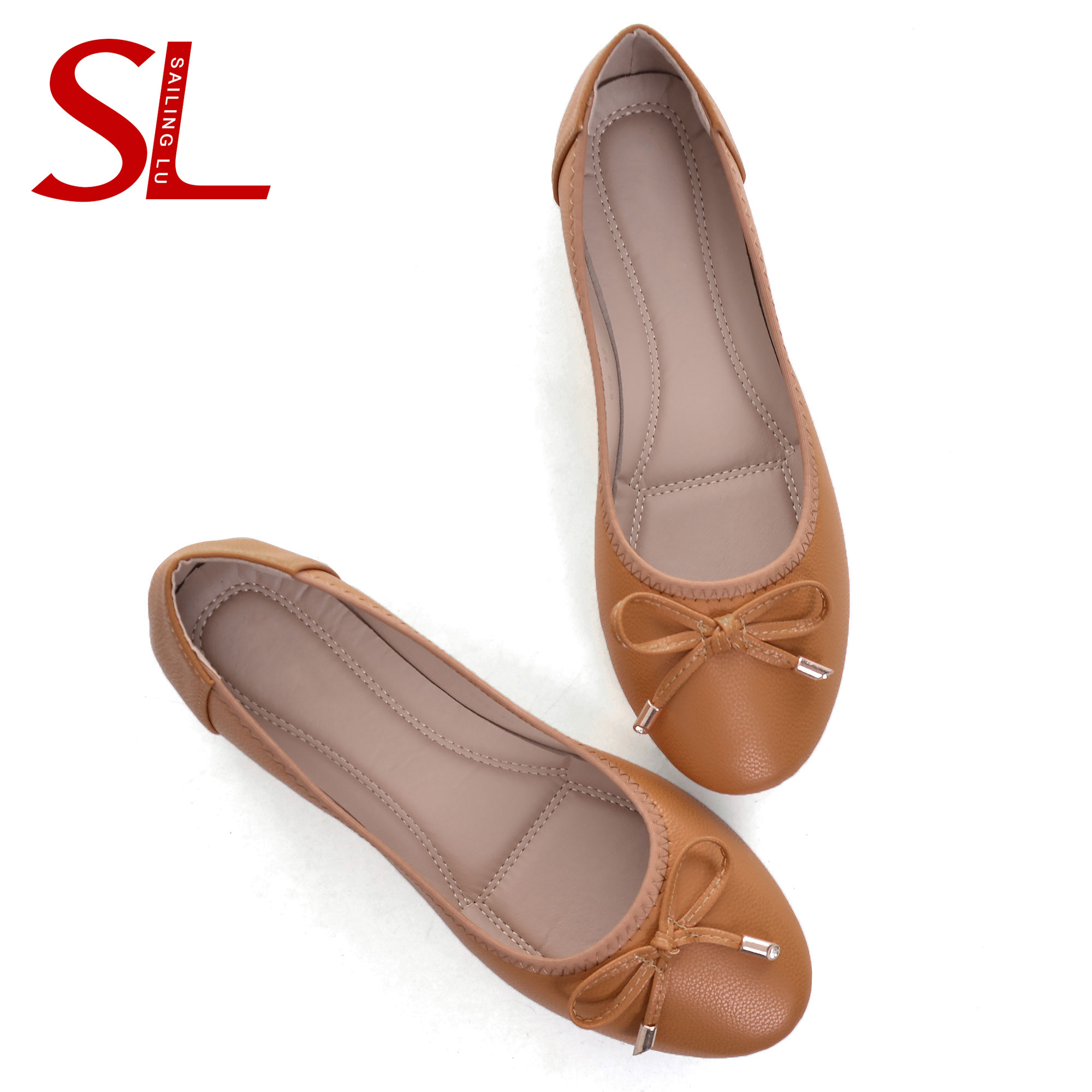 Promote^House-Shoes Ballet-Flats SAILING Cute Loafers Slip-On Women Casual for Comfort Bow-Knot'