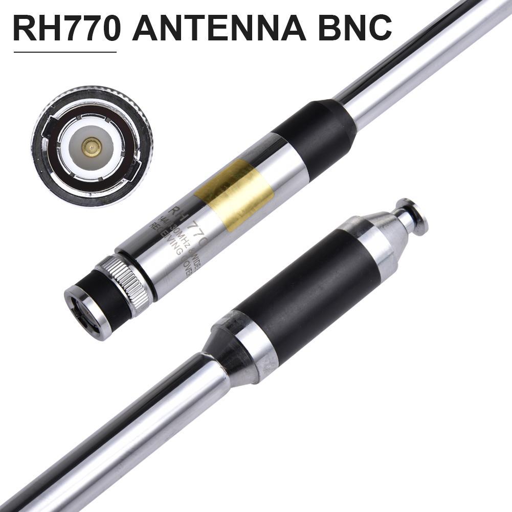 Dual Band RH770 Antenna For BNC Walkie-talkie Antenna 144/430Mhz 3.0/5.5dBi 20W Telescopic Antenna HT/Scanner