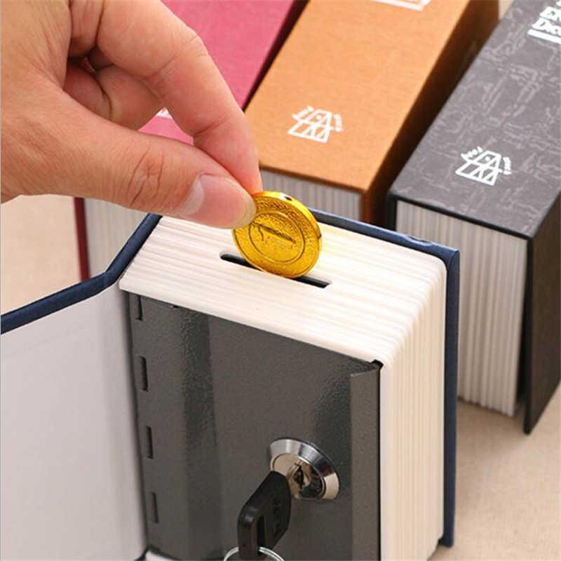 辞書ミニ金庫ブックマネーボックス秘密セキュリティ安全ロック現金コイン収納ジュエリーキーロッカー子供のためギフト