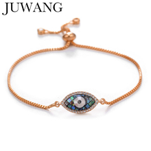Turkish Lucky Evil Eye Bracelets for Women Girl Pave CZ Blue Eye Bracelet rose gold chain Lucky coppe Female Jewelry fine lavender purple natural crystal bracelets fox pendant evil spirits help marriage lucky for women girl gift bracelet jewelry
