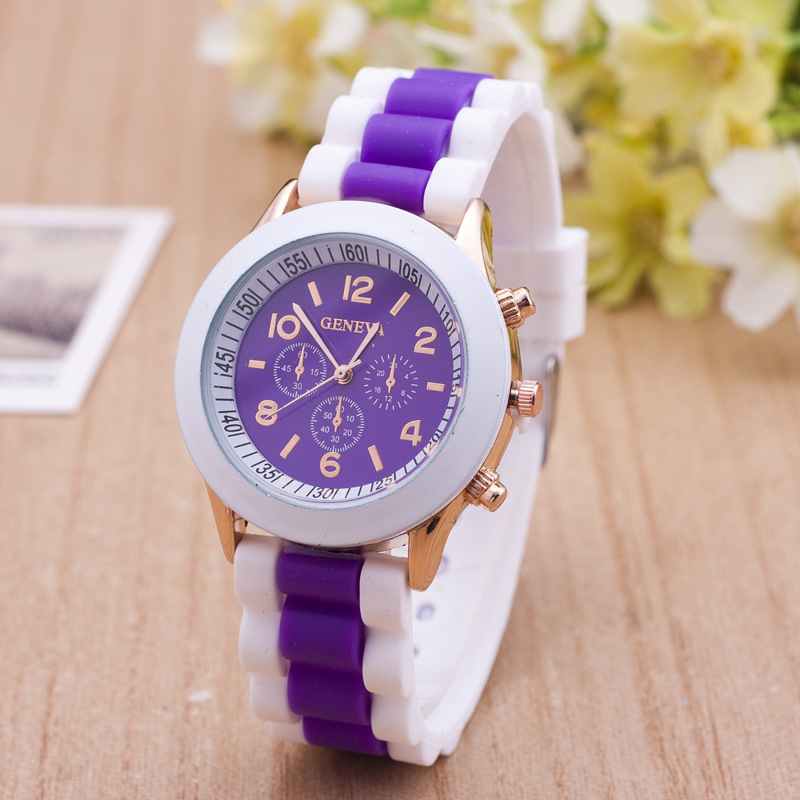 Hesiod Fashion Top Famous Luxury Brand White Silicone Strap Women's Quartz Watch Casual Big Dial Clock Unique Design